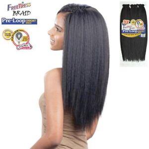 FREETRESS SYNTHETIC PRE LOOP BRAIDS CROCHET LONG STRAIGHT HAIR BRAID YAKY 16