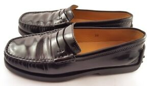 TOD's Black Leather Driving Moccasins Loafer, Women's Shoes Size US 6 EU 36