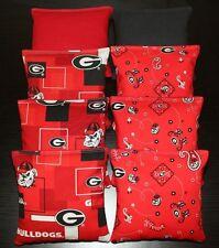 Cornhole Bean Bags made w Georgia Bulldogs Fabric Aca Regulation Uga Game Toss