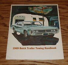 Original 1969 Buick Trailer Towing Handbook Sales Brochure 69