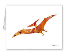 Pterodactyl Note Cards With Envelopes