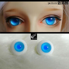 14mm Jelly Blue Color Eyeballs For Bjd Aod Dod Doll Dollfie Glass Eyes Outfit