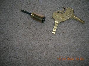 ((( PELLA ))) NEW LOCK CYLINDER WITH TWO PELLA KEYS Black key slot end