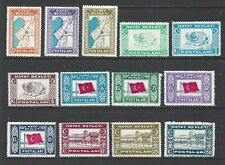HATAY (ALEXANDRETTA) - 12-24 - MNH - 1939 - HATAY MAP, LIONS, FLAG, POST OFFICE