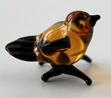 """sparrow tiny blown glass """"Murano"""" art figurine * hand made in Russia"""