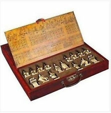Chinese A set of Asian old chess 32 pieces board box game