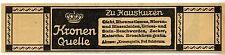 Bad Salzbrunn Niederschlesien  Kronenquelle Historische Reklame von 1911