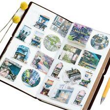 45 PCs/lot Label Cartoon Scrapbooking Paper Stickers Travel Landscape