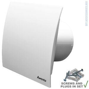 "125mm 5"" White Extractor Fan Bathroom Kitchen Standard Switch Escudo WEB125"