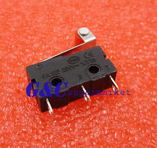 10pcs Tact Switch 3A 5A 250V Microswitch Round Handle 3Pin