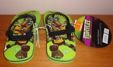 Brand New Boys Teenage Mutant Ninja Turtles Infant Toddler Flip Flops size M 7-8