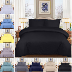 4 PCS BEDDING SET 400 TC 100% COTTON DUVET COVER  WITH FITTED SHEET PILLOW CASES