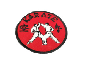 """Vintage 4"""" karate patch retro red patch"""