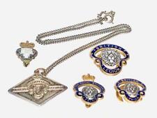 More details for vintage enamel lapel buttonhole badge lot royal british legion & womans pendant
