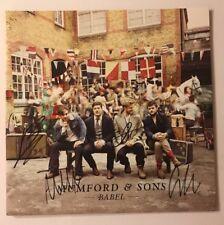 Mumford & Sons Signed Babel Vinyl LP JSA COA # Q64041 Autographed X4