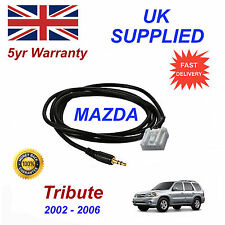Mazda Tribute AUX 3.5mm Input Audio cable High Quality Sound model year 02-06