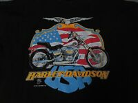 VTG 1990 Harley Davidson Motorcycle Holoubek Bike Shirt Men's Large Eagle