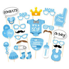 Cute Baby Shower 25pcs Its A Boy Photo Booth Props Set Birthday Decoration Blue