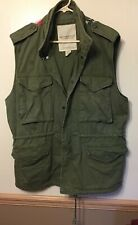 Denim & Supply Ralph Lauren Army Military Fatigue USA Flag Vest Jacket XL/TG