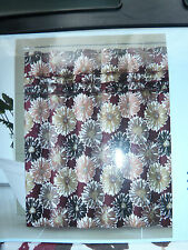 """PRETTY BURGANDY, BEIGE AND GOLD FLORAL  FABRIC SHOWER CURTAIN , 72""""W"""" X 72""""L,NEW"""