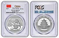 2017 China 10 Yuan Silver Panda PCGS MS70 - First Strike - White Label