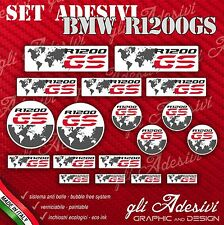 Kit Adesivi Stickers BMW R 1200 GS Enduro Planisfero Grey
