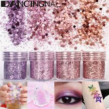4Pot/Set Pink Purple Flake Chunky Glitter Powder Nail Eyeshadow Tattoo Body Face