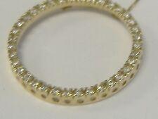 "VINTAGE 14 k  GOLD .50 CT DIAMOND CIRCLE PENDANT  NECKLACE 18 "" LOT 4823"
