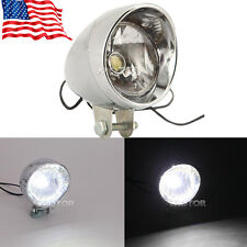 Universal Motorcycle LED Headlight Head Lamp Chrome For Harley Chopper Custom