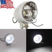 Universal Motorcycle LED Headlight Head Lamp Chrome For Harley Chopper Custom