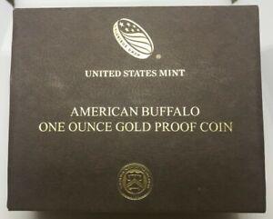 2019 AMERICAN BUFFALO GOLD ~ OGP BOX & COA ONLY ~ NO COIN ~ 1 Ounce PROOF