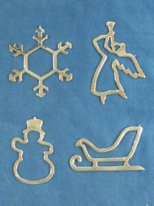 PAUL MARCH STERLING CHRISTMAS ORNAMENTS (4) TOTAL FREE SHIPPING