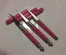 3 PCS HANDMADE FRUIT VEGETABLE THAI CARVING KNIVES SET HANDLE Stainless Steel
