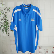 Adidas UCLA Bruins XL Polo Shirt Blue S/S 3 Button Golf Wear