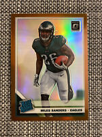 2019 Donruss Optic Miles Sanders RC Rated Rookie Card #172 Bronze Prizm Eagles!