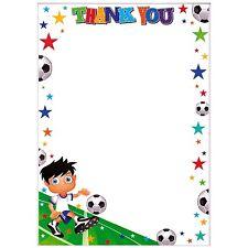 Simon Elvin - THANK YOU - 20 Sheets & Envelopes - SEALED - Boys FOOTBALL Design