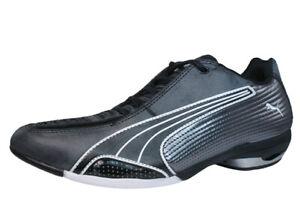 Womens Leather Motorsport Trainers Puma Testastretta Bike Cycling Shoes Black