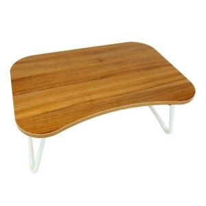 Portable Laptop Desk Bed Stand Notebook Folding Table Lap Tray - Cherry