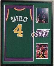 Adrian Dantley Autographed Custom Framed Utah Jazz Jersey JSA Witnessed COA 2e3a987ae
