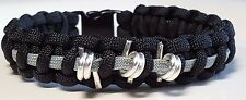 Thin Gray Line Correctional Officer Paracord Bracelet with Barbwire; 3 Barbs ™
