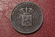NETHERLANDS INDIE 2 1/2 CENTS 1858   (1628)