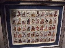 US Stamp Sheet Americas Wildlife , Uncanceled Set in Wood Frame  (50 Stamps)