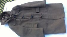 MENS VINTAGE BHS GLOVERALL DUFFLE COAT SIZE 42R L CAMEL WOOL