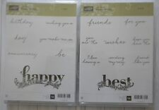 Stampin' up Happy Wishes Retired 2018 SaleaBration Clear Mount Set 16 STAMPS