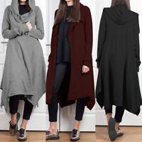 ZANZEA Womens Winter Long Sleeve Warm Coat Jacket Cardigan Hoodies Overcoat