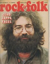 """ROCK & FOLK n°93 octobre 1974"" Jerry GARCIA (Photo SLOGAN)"