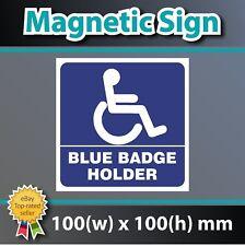 Desactivado Blue Badge Holder Vinilo Coche Magnético Imán Pegatina Signo Calcomanía De Estacionamiento