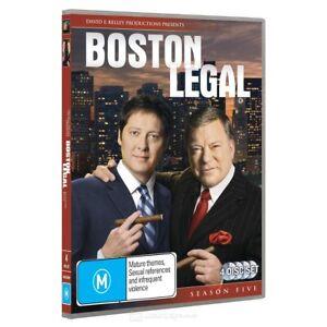 Boston Legal: Season 5 (DVD, 2008, 4-Disc Set) PAL Region 4 (Brand New / Sealed)