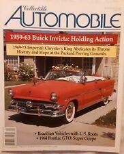 COLLECTIBLE AUTO '59-'63BUICK INVICTA, '69-'70IMPERIAL, '64PONTIAC GTO: SUPER CO