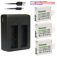 Kastar Battery Dual USB Charger for SJCAM SJ4000B SJCAM M10 SJCAM SJ4000 Camera